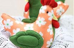純手工縫制可愛的布藝小雞