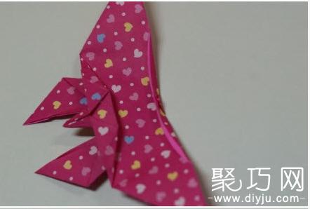 纸蝴蝶的折法