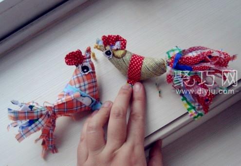 戴春鸡儿 手工布艺缝制打春鸡方法