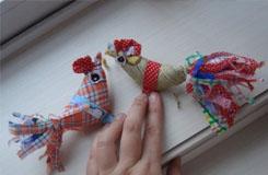 手工布藝縫制打春雞方法 立春戴春雞兒