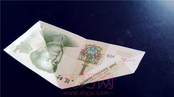 用钱折花步骤图片 钱折纸大全图解