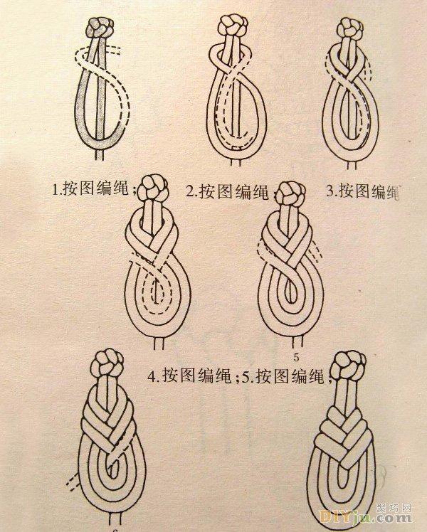 如何制作盤扣:三種古典旗袍盤扣的編法圖解教程