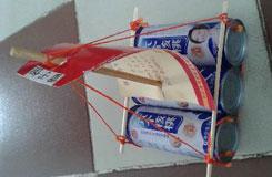 学手工:废旧易拉罐DIY手工制作帆船图解教程