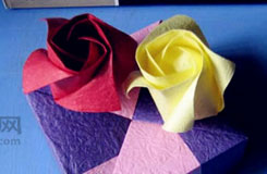 史上最簡單的折紙玫瑰花步驟圖解 教你如何折紙玫瑰