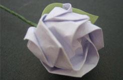 用紙疊玫瑰花 超真實的折紙玫瑰花步驟圖解
