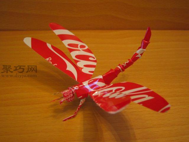 易拉罐手工制作的蜻蜓