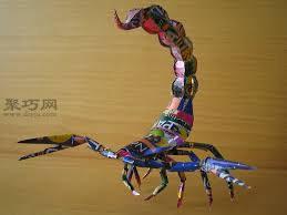易拉罐手工制作蝎子