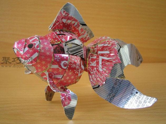 易拉罐手工制作金鱼