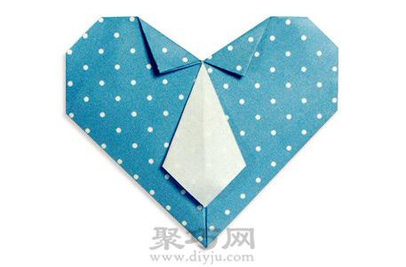 心形領帶折紙教程:愛心領帶折紙