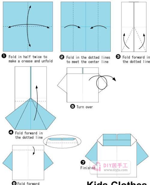 手工折纸 折纸  步骤1:将纸张有颜色的一面朝上
