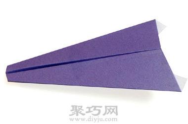 飞机折纸大全 平头纸飞机的折法图解教程图片