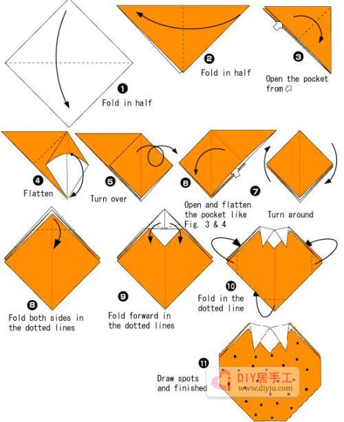简单手工幼儿折纸柿子教程图解