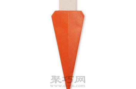 幼儿园小朋友简单手工折纸胡萝卜教程