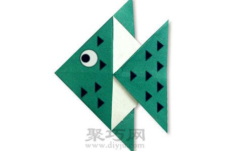 还是跟着折纸大全图解一起来制作一个折纸的热带鱼吧