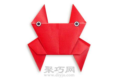 儿童简单diy 小螃蟹手工折纸教程