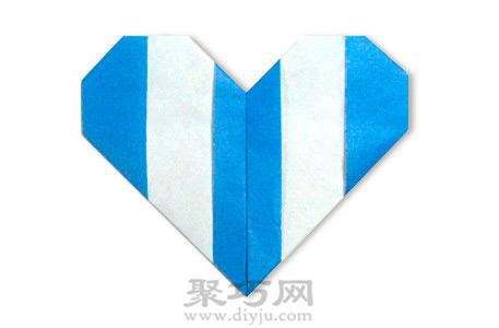 线条折纸心手工折纸图解教程成品折纸心形