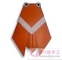简单手工制作知了折纸教程