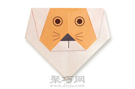 简单的折纸狮子教程