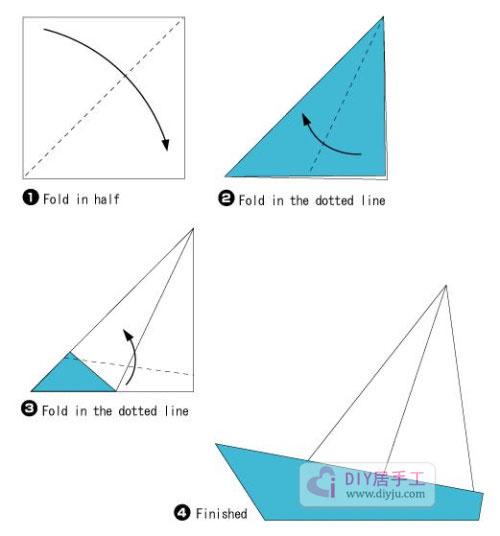 折纸小帆船:非常适合儿童折纸帆船的方法