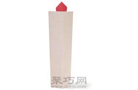 圣诞蜡烛手工diy折纸图解教程制作成品折纸蜡烛效果图