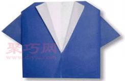 手工简单折纸服装之衬衣教程