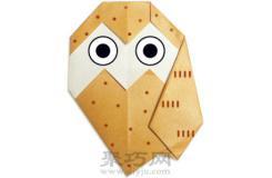 貓頭鷹簡單手工折紙教程