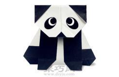 可愛折紙熊貓簡單手工折紙教程
