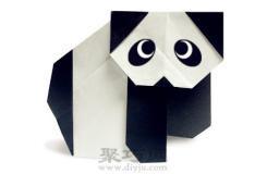 簡單可愛手工折紙熊貓教程