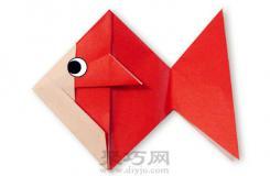 簡單簡單手工折紙大全金魚折紙教程