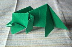 簡單手工三角龍折紙 3D折紙恐龍大全圖解教程