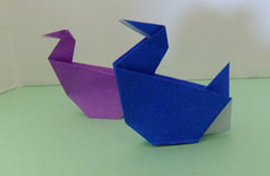 兒童簡單折紙水鳥的折法 水鳥怎么折
