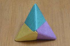 超可爱的立体三角形折纸图解 教你如何折幸运星三角形