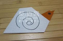 蜗牛折纸教程:教你如何折蜗牛