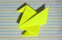 怎么折展翅的小鸡 折纸小鸡图解教程