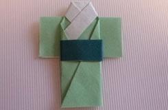 日本夏日和服折紙教程 如何折日本浴衣