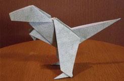 diy立體暴龍的折疊方法 仿真恐龍折紙大全