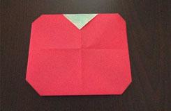 手工折纸番茄(西红柿) 幼儿园折纸教程图解