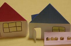 三角顶小房子折纸图解教程 纸房子的折法