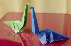 怎么折纸长颈龙 折纸恐龙图解教程大全
