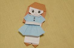 简单的裙子和裤子换装娃娃折纸图解教程