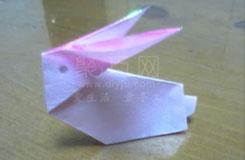 用�怎么折兔子 折立�w�兔子的折法�D解
