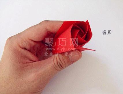 学了这个手工折纸玫瑰花图解教程
