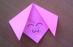 如何折紅嘟嘟小豬臉 手工折紙豬教程
