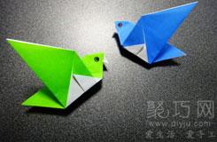 小鳥的折法:展翅青鳥折紙圖解教程