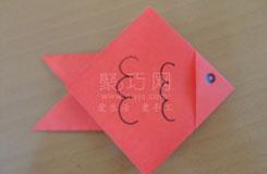折紙魚圖解教程:教你最簡單折金魚方法
