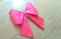 折疊立體蝴蝶結方法 用紙怎樣折蝴蝶結