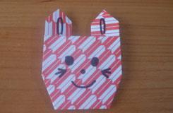 折叠纸猫头教程:教你用纸折可爱猫咪头