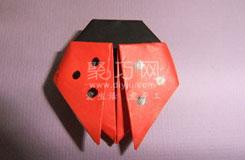 如何折疊六星瓢蟲 簡單手工瓢蟲折紙教程