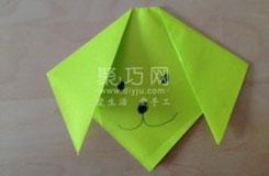 最簡單的小狗頭的折疊方法圖解教程
