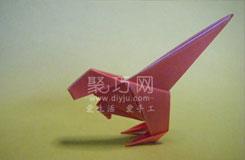 如何折纸恐龙之异齿龙的折叠方法图解教程